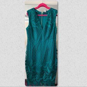 Venus Deep Plunging Lace Dress